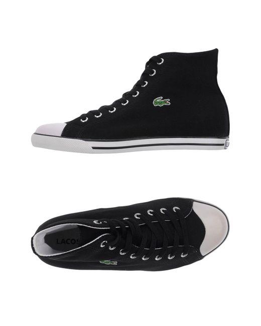 lacoste hightops amp sneakers in black for men lyst