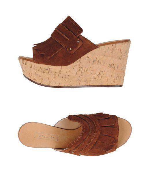 Casadei   Brown Sandals   Lyst