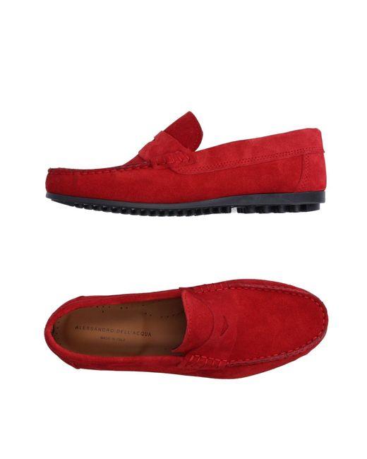 Alessandro Dell'acqua | Red Loafer for Men | Lyst