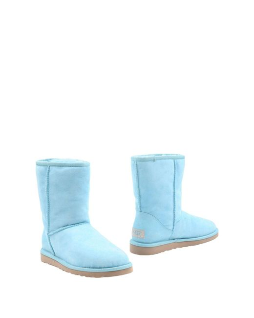 Ugg | Blue Ankle Boots | Lyst