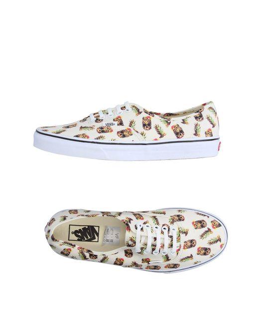 Vans | White Low-tops & Sneakers for Men | Lyst