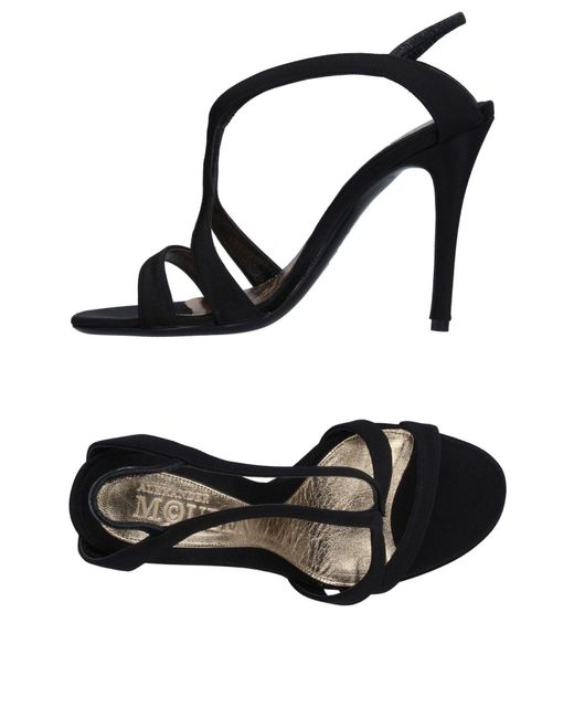 Alexander McQueen   Black Sandals   Lyst