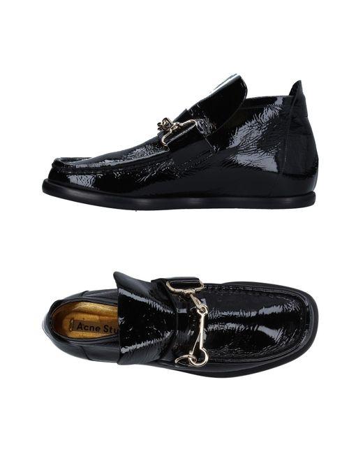 Acne | Black Loafer | Lyst