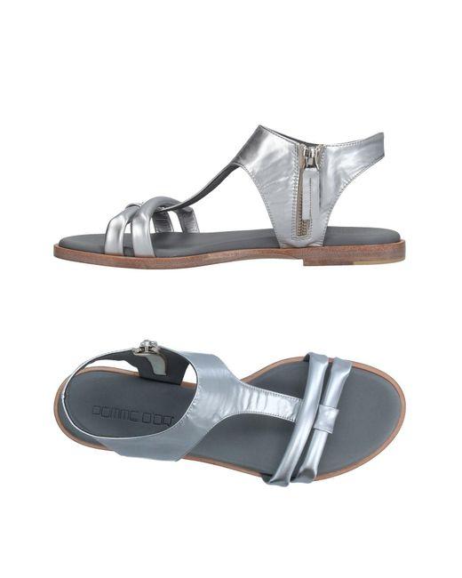 Pomme D'or | Metallic Sandals | Lyst