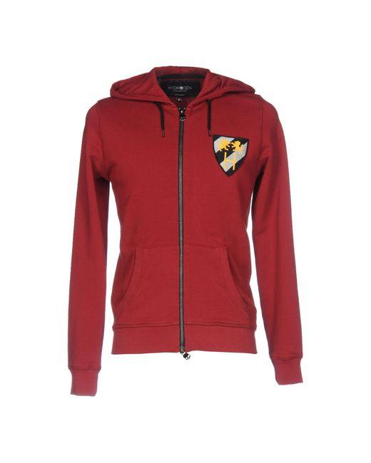 Hydrogen | Red Sweatshirt for Men | Lyst