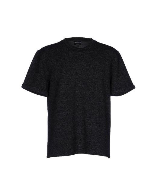 Giorgio Armani | Black Sweater for Men | Lyst