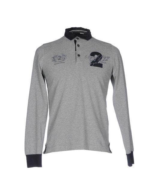 Etiqueta Negra | Gray Polo Shirt for Men | Lyst