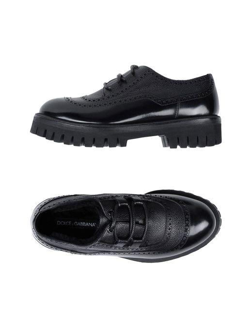 Dolce & Gabbana - Black Lace-up Shoes for Men - Lyst