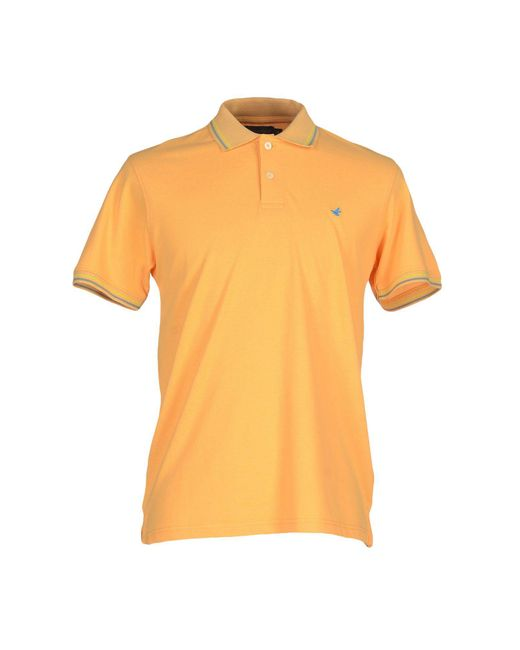 Brooksfield - Orange Polo Shirt for Men - Lyst