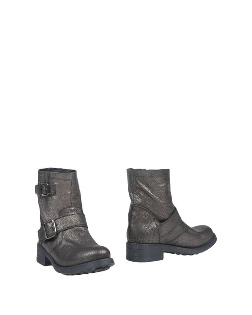 Manufacture D'essai - Gray Ankle Boots - Lyst
