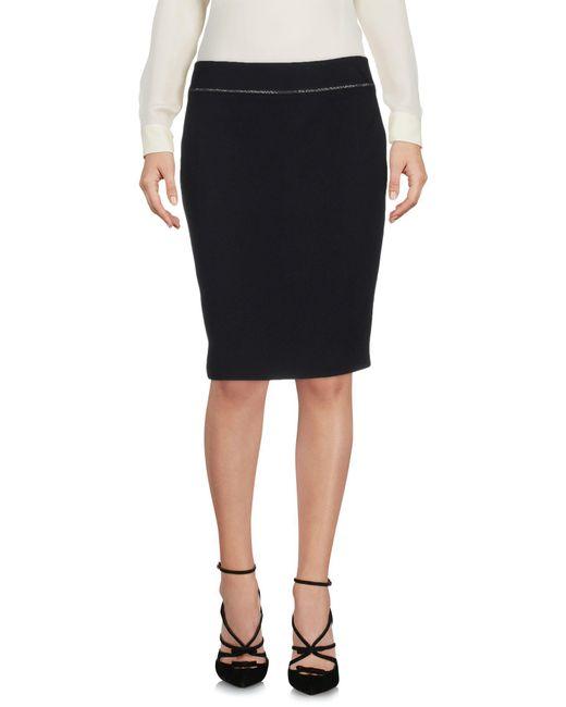 Armani Jeans - Black Knee Length Skirt - Lyst