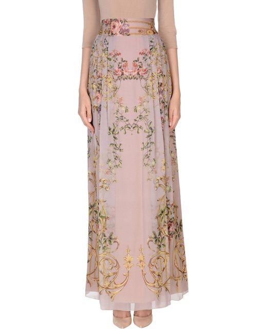 Alberta Ferretti - Pink Long Skirt - Lyst