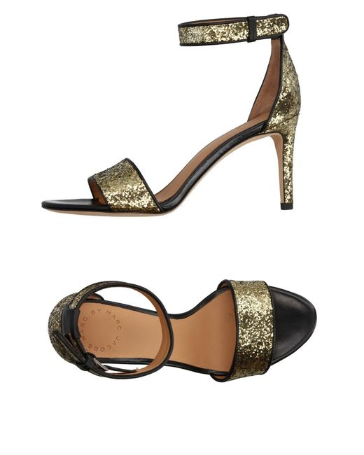Marc By Marc Jacobs | Metallic Sandals | Lyst