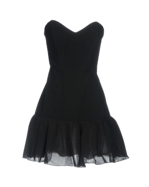 Elisabetta Franchi - Black Short Dress - Lyst