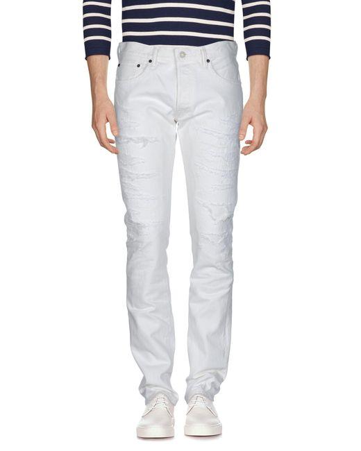 Fabric-Brand & Co. - White Denim Trousers for Men - Lyst
