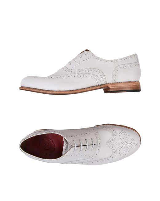 GRENSON - White Lace-up Shoe - Lyst