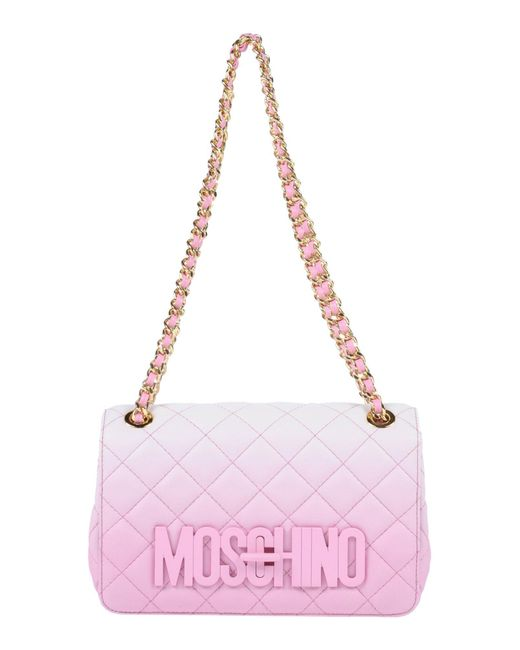 Moschino - Pink Shoulder Bags - Lyst