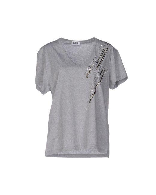 Sonia by Sonia Rykiel | Gray T-shirt | Lyst
