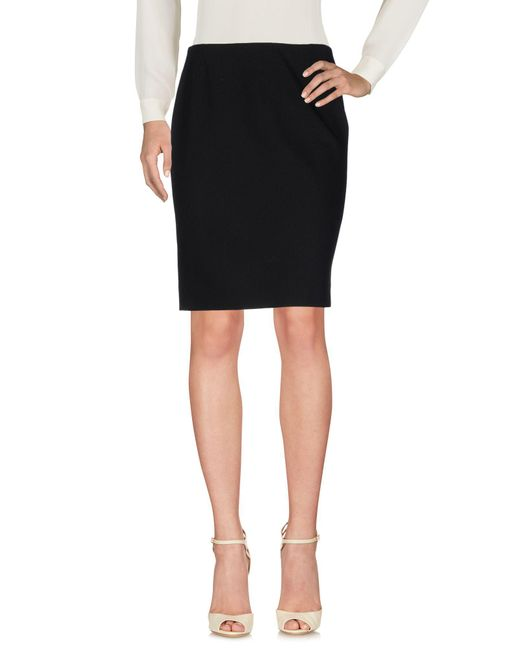 Balenciaga - Black Knee Length Skirt - Lyst
