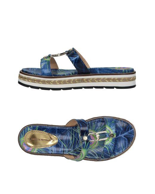 Loretta Pettinari - Blue Sandals - Lyst