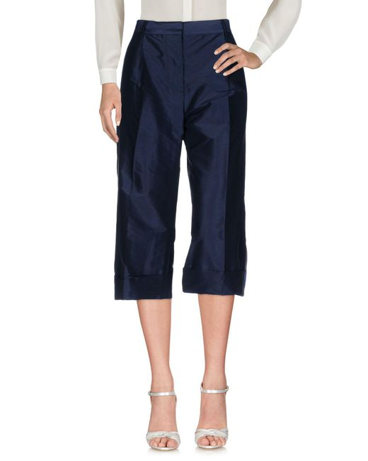 PS by Paul Smith - Blue 3/4-length Trousers - Lyst