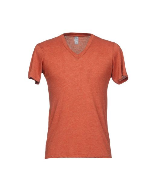 Alternative Apparel - Orange T-shirt for Men - Lyst