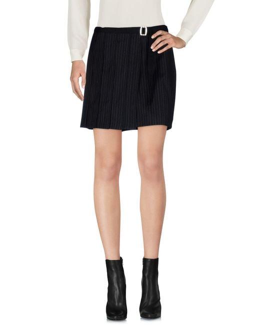 John Richmond - Black Mini Skirt - Lyst