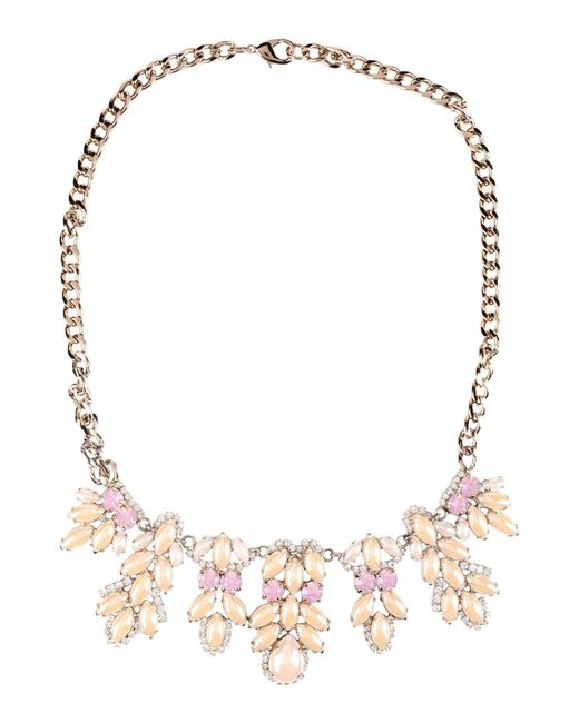 Stefanel | Pink Necklace | Lyst