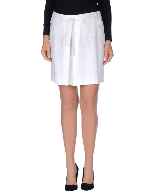 Peserico | White Knee Length Skirt | Lyst