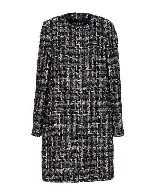 Dolce & Gabbana | Gray Overcoat | Lyst
