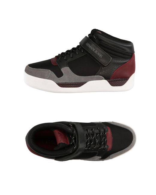 Armani Jeans | Black High-tops & Sneakers for Men | Lyst