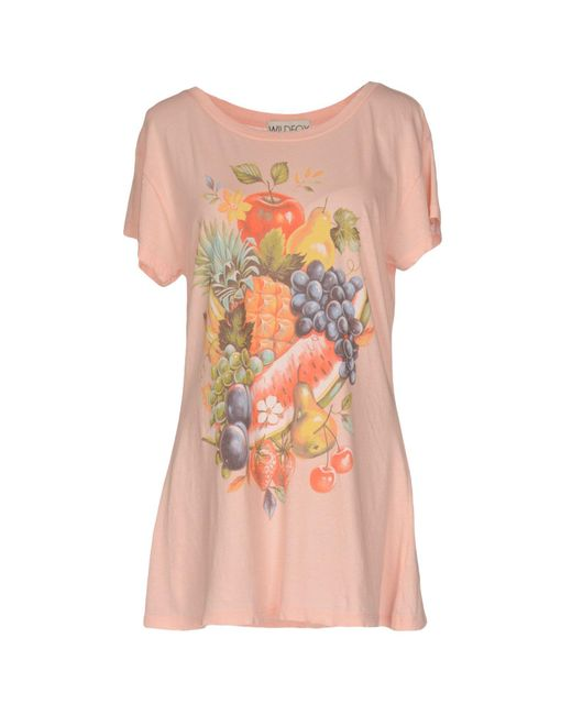 Wildfox - Pink T-shirt - Lyst