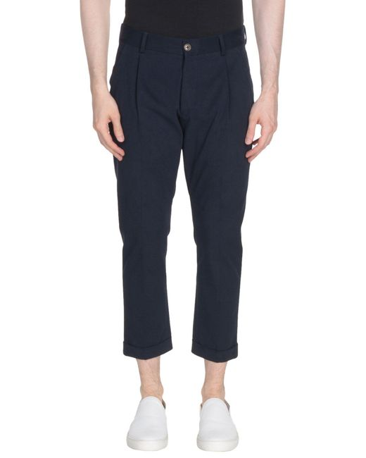 26.7 Twentysixseven - Blue 3/4-length Trousers for Men - Lyst