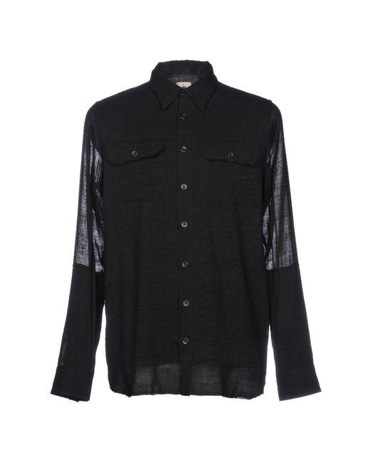 Forcerepublik - Black Hemd for Men - Lyst