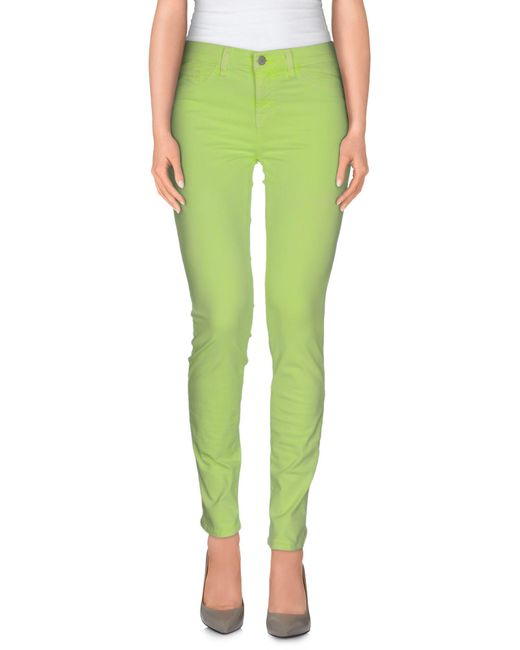 J Brand - Green Casual Trouser - Lyst