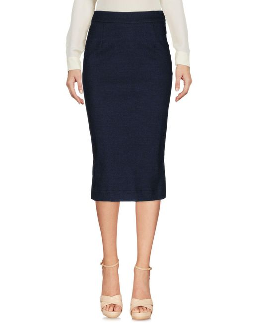 Vivienne Westwood Anglomania - Blue Knee Length Skirt - Lyst