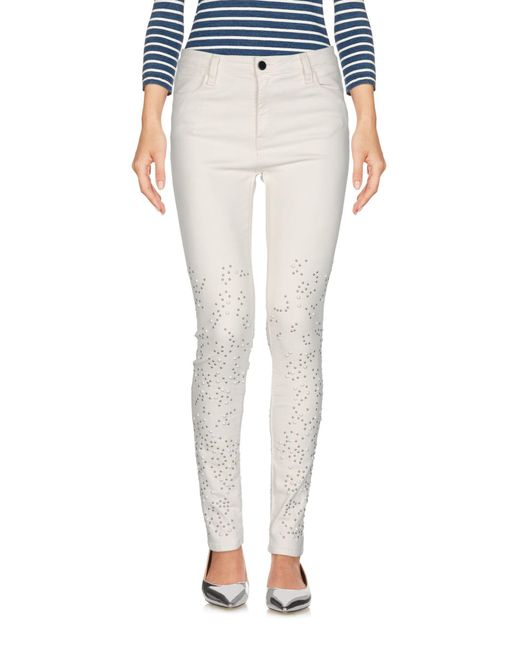 Brockenbow White Denim Trousers
