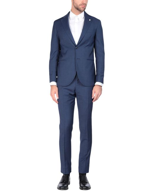 Luigi Bianchi Mantova Blue Suit for men