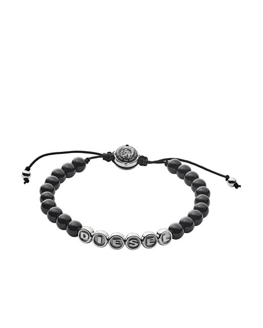 DIESEL - Black Bracelet for Men - Lyst