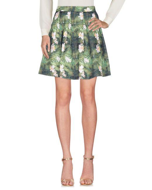 AT.P.CO - Green Knee Length Skirt - Lyst