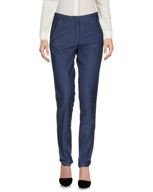 AT.P.CO - Blue Casual Trouser - Lyst