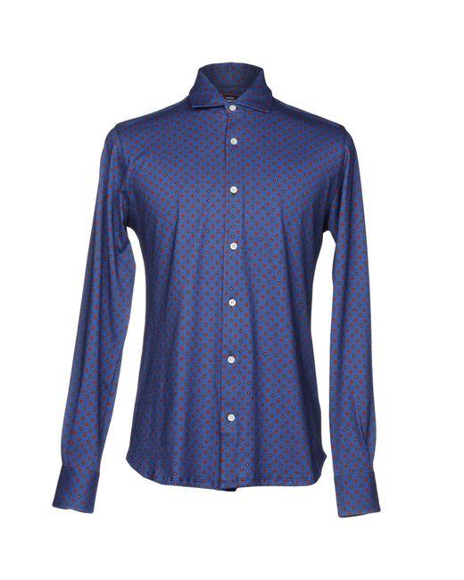 Fiorio - Blue Shirt for Men - Lyst