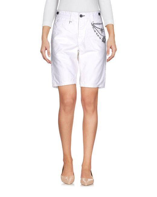 Jfour | White Bermuda Shorts | Lyst