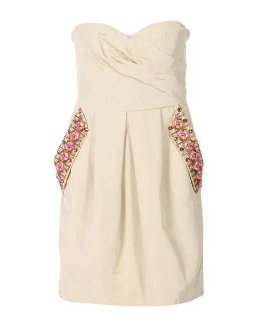 Matthew Williamson - Natural Short Dress - Lyst