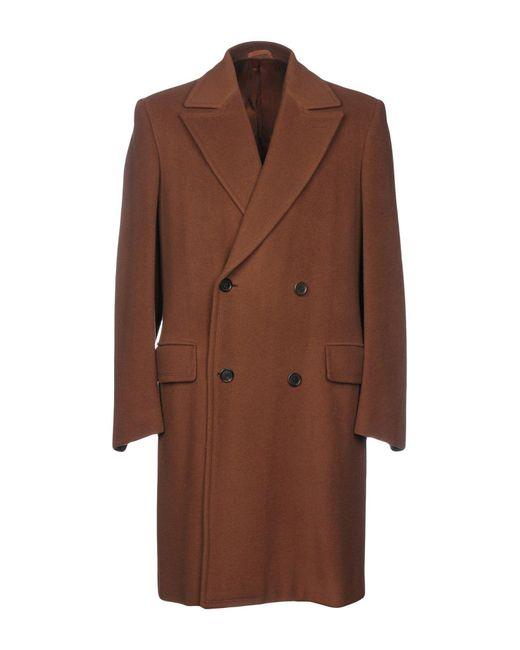 Prada - Brown Coat for Men - Lyst
