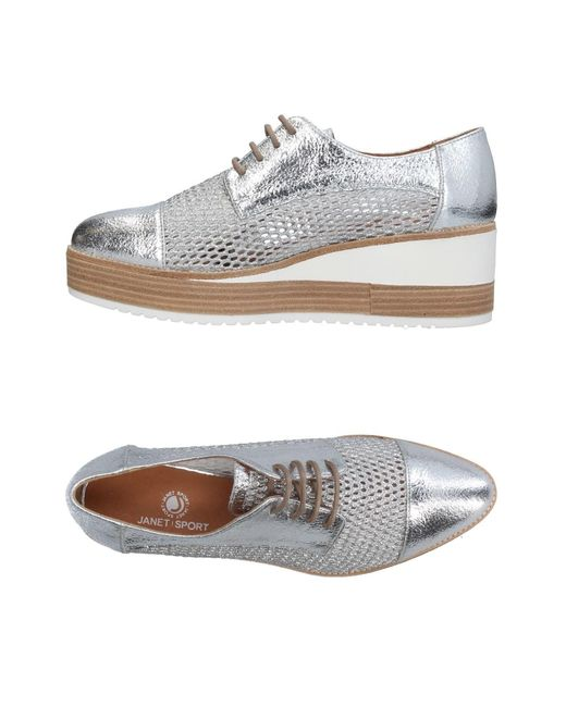 Janet & Janet - Metallic Lace-up Shoe - Lyst