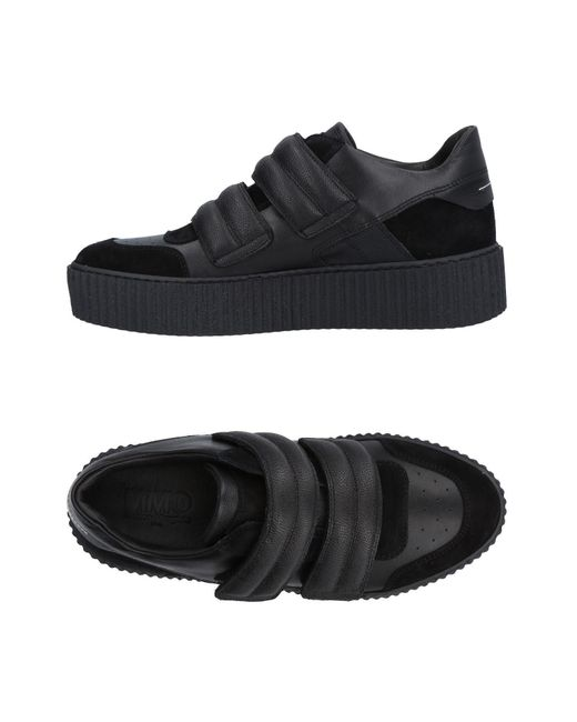 MM6 by Maison Martin Margiela - Black Low-tops & Sneakers - Lyst