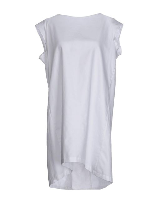 Aglini - White Short Dress - Lyst
