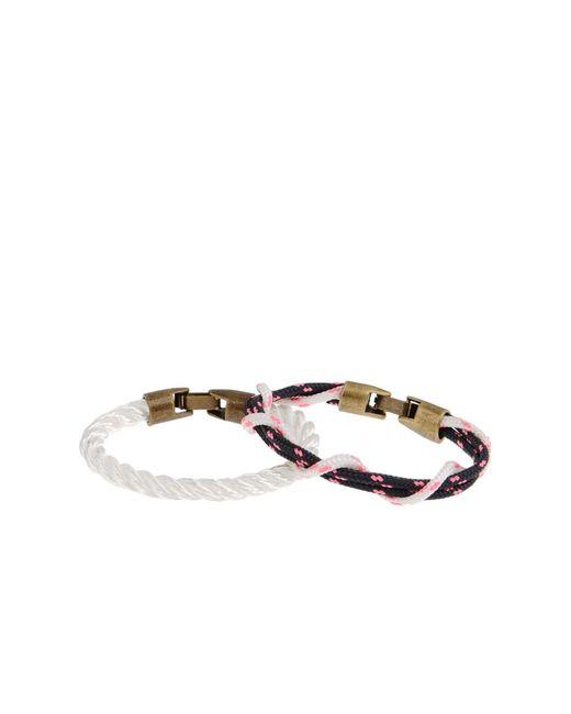 L4k3 | White Bracelet | Lyst