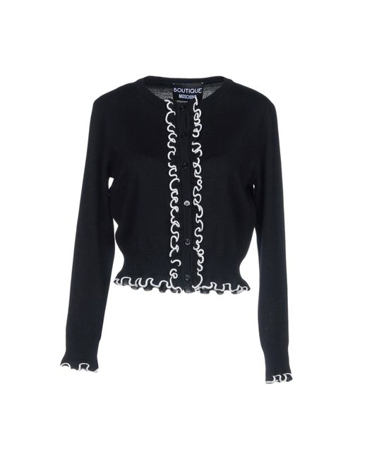 Boutique Moschino - Black Cardigan - Lyst
